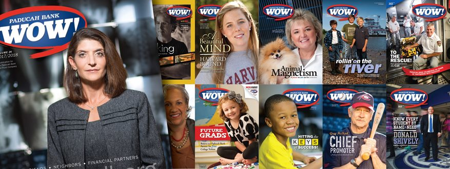 Covers of the Paducah Wow Magazine